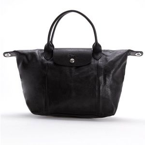 LONGCHAMP Black Cuir Le Pilage Small Handbag
